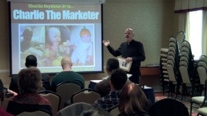 Charlie Seymour Jr Charlie The Marketer the Video-Crazed MBA Marketer presents at jvAlert Live Philadelphia in 2013. His topic was Online: Get Found, Engage, Build Profitable, Automated System To Follow Up Automagically! Charlie@CharlieTheMarketer.com